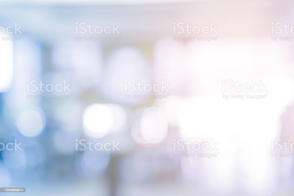 abstract blurred modern interior workplace background with orange color light for design as ads, banner, presentation royalty-free stock photo