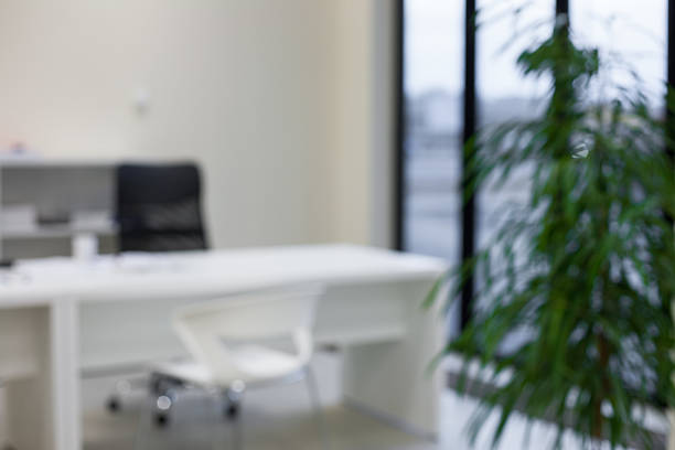 Abstract blurred modern office background – Foto