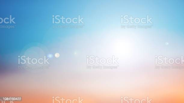 Photo of abstract blurred nature sunset twilight sky backgrounds