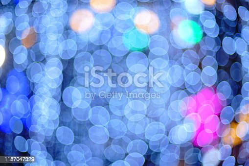 929640504istockphoto Abstract blurred night city bokeh light background 1187047329
