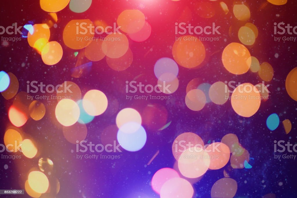 Abstract Blurred Of Blue And Silver Glittering Shine Bulbs Lights Backgroundblur Of Christmas Wallpaper