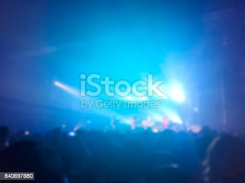 istock Abstract blurred of concert in small club . 840697680