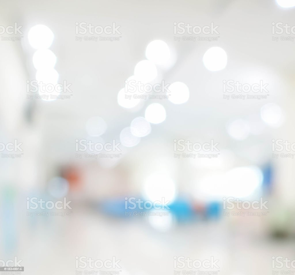 Abstract blurred of hospital stock photo