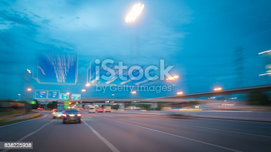 640042252 istock photo Abstract blurred of the car on the road 838225938