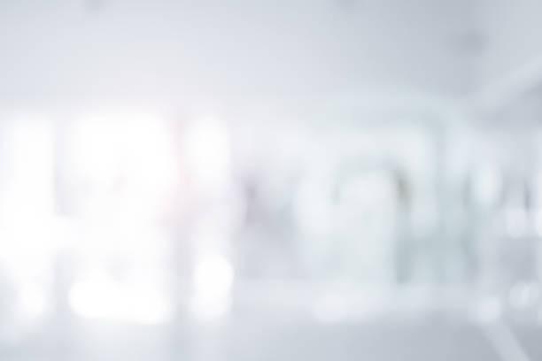 abstract wazig van werkplek of ziekenhuis corridor achtergrond concept. - bokeh stockfoto's en -beelden