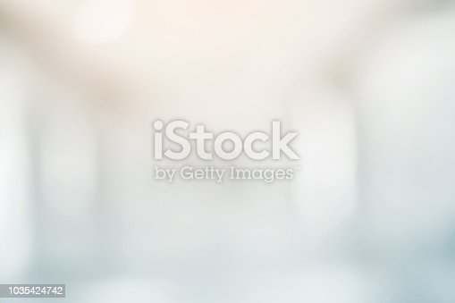 abstract blurred of workplace or hospital corridor background concept.