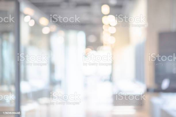 Photo of Abstract blurred office interior background