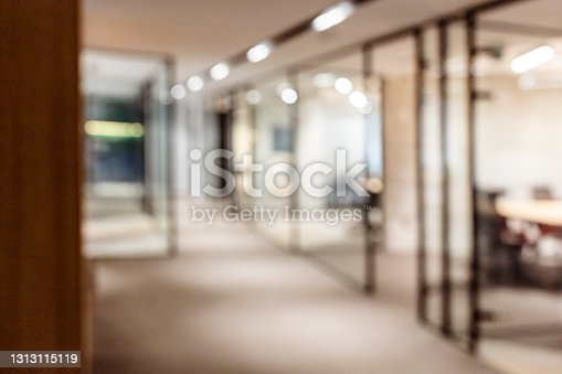 istock Abstract blurred office interior background 1313115119