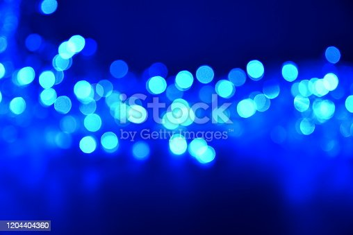 Abstract blurred pattern of light  in blue tones