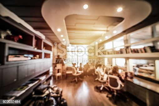 abstract blurred people in co working space for background