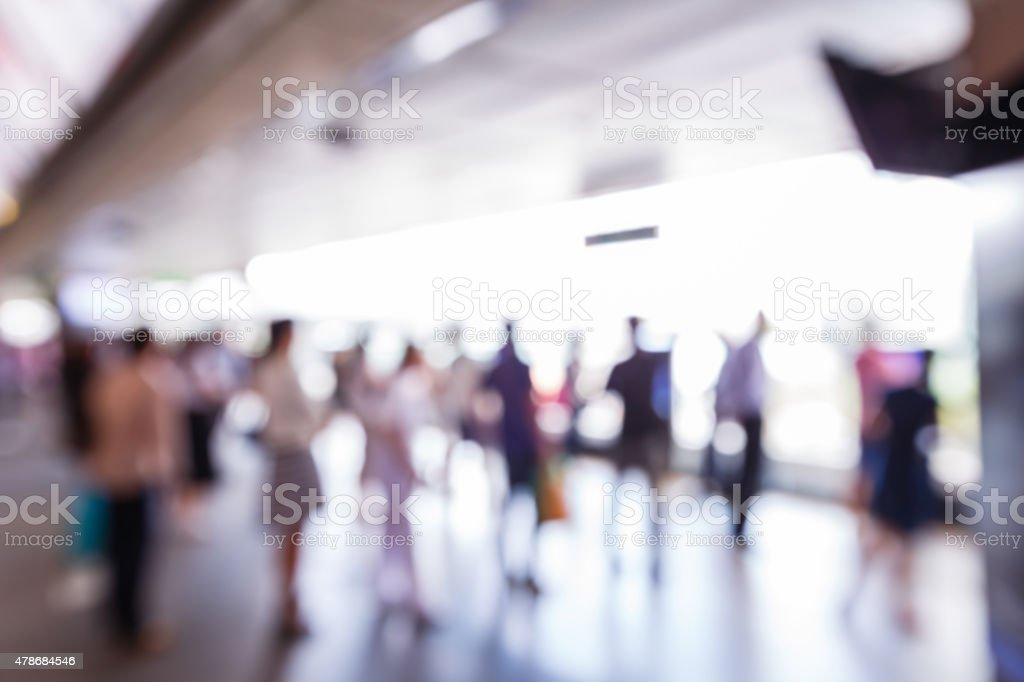 Abstract blurred people stock photo