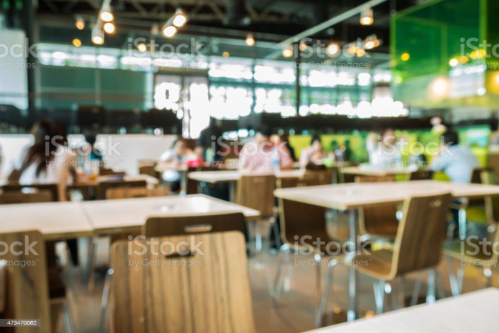 Abstrakt verschwommen restaurant oder Speisen-center – Foto