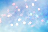 istock Abstract blurred soft blue beautiful glowing blinking bokeh 1182287226