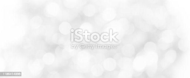 Abstract blurred soft white silver beautiful of electronic lamp light interior room background for design banner  and presentation concept