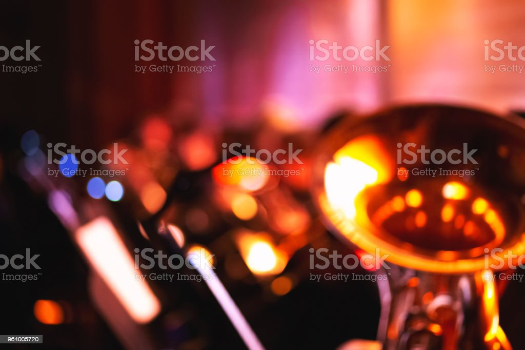 Abstract blurred symphony orchestra background stock photo