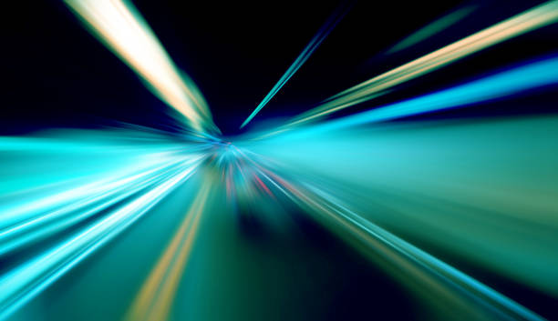 Abstract blurred traffic lights stock photo