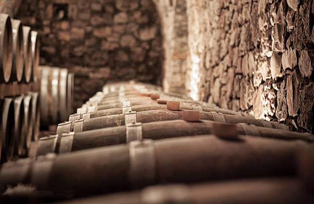 Abstract blurry background of wine cellar Abstract blurry background of wine cellar cellar stock pictures, royalty-free photos & images