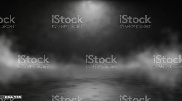 Photo of Abstract blurry background with smoke. 3d render