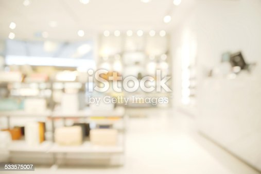 Abstract blurry bright luxury shop background