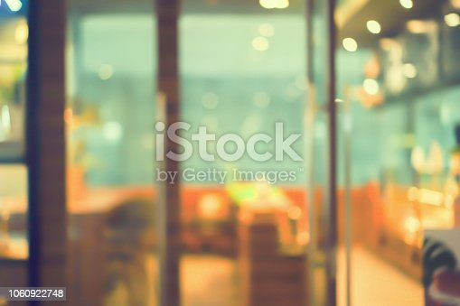 istock Abstract blurry coffee cafe bar restaurant background 1060922748