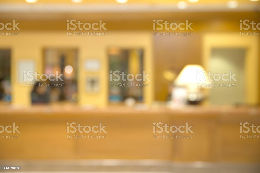 Abstract blurry empty reception area stock photo