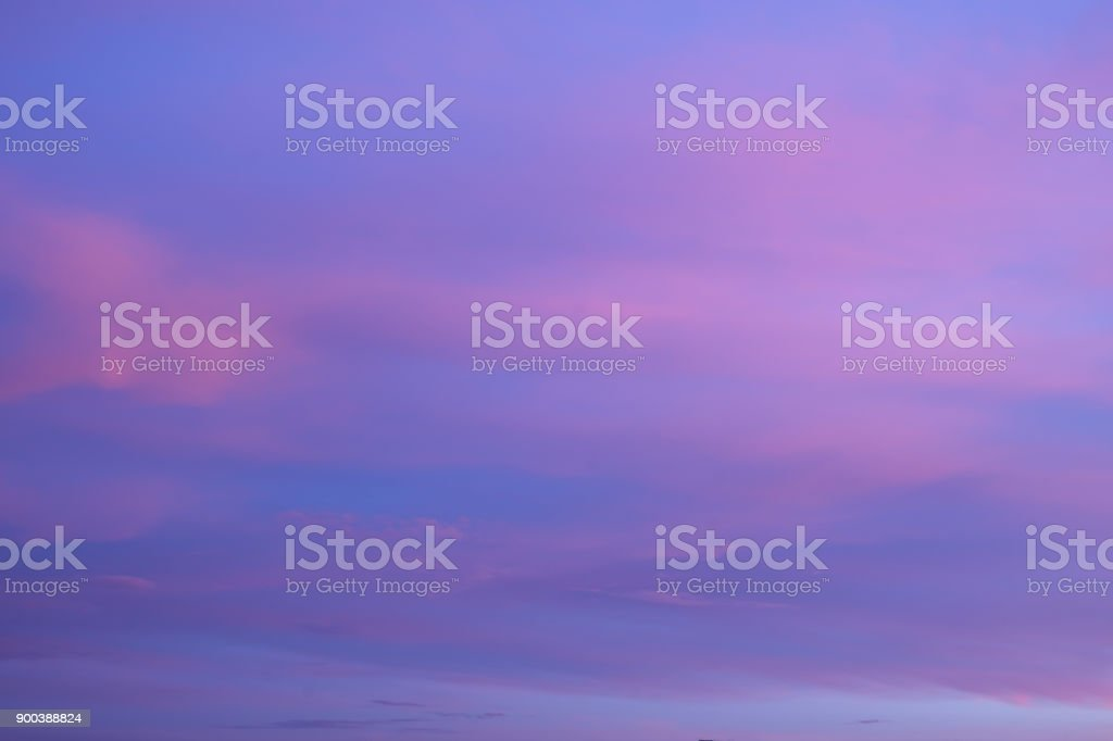 Abstract blurry pink and purple sky stock photo