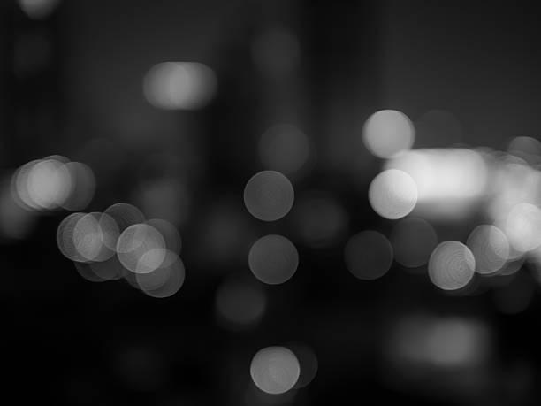 ボケ背景(抽象的な黒と白の写真) - 都市 モノクロ ストックフォトと画像