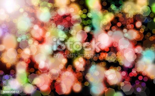 123458999 istock photo Abstract bokeh background 866699812