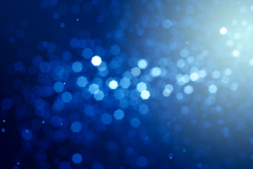 Abstract  bokeh blue backlight background.
