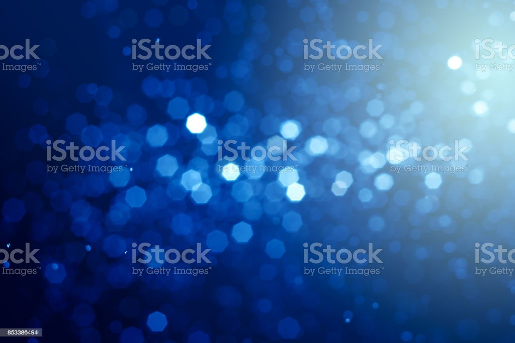 Abstract  bokeh blue backlight background. stock photo