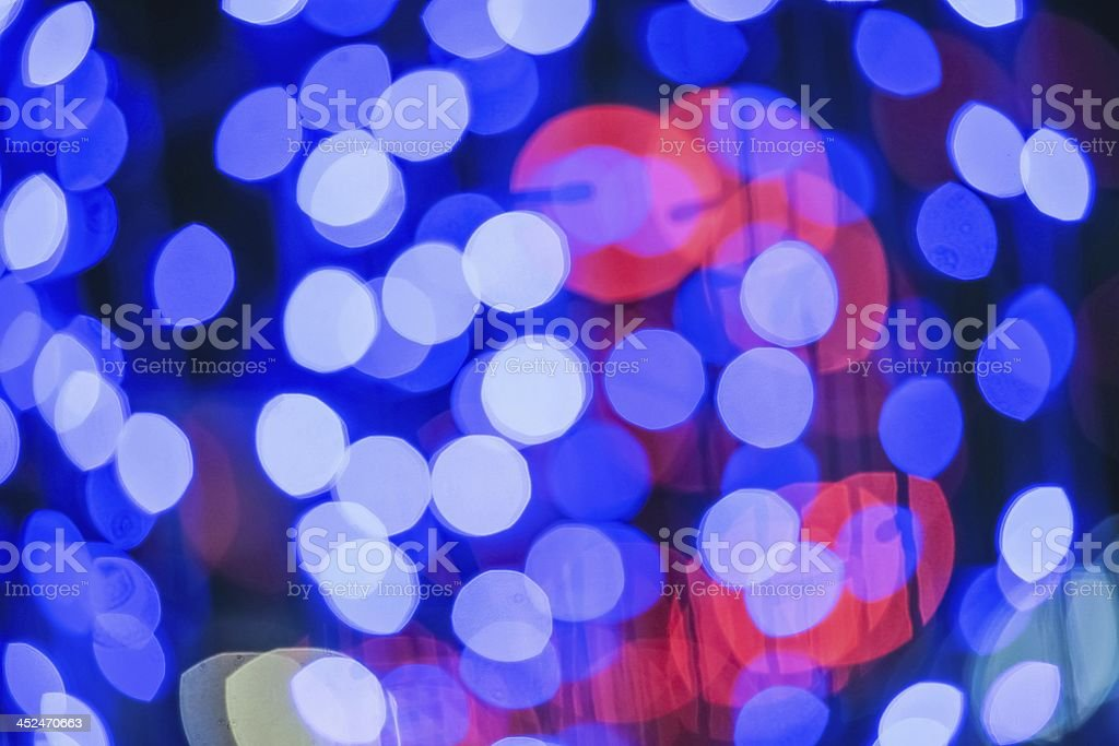 Abstract bokeh christmas lights. royalty-free stock photo
