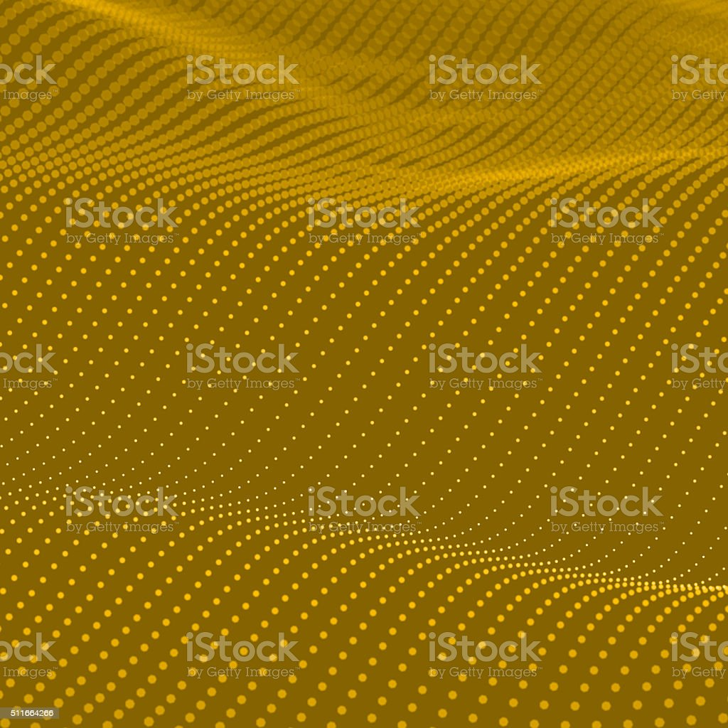 Abstract bokeh dots waves stock photo