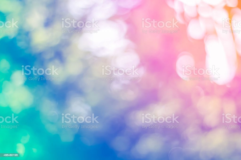 Abstract Bokeh of tree color for background stock photo