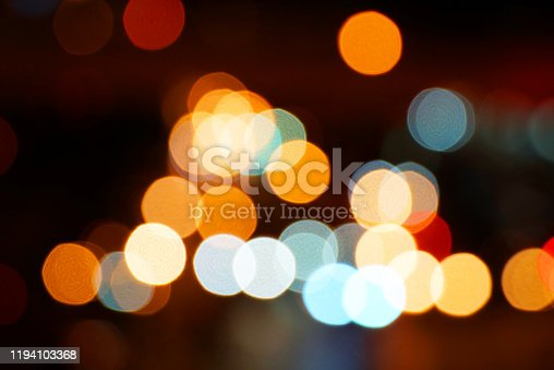Abstract bokeh street night light background
