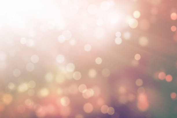 Abstract Bokeh With Light Rays - foto stock