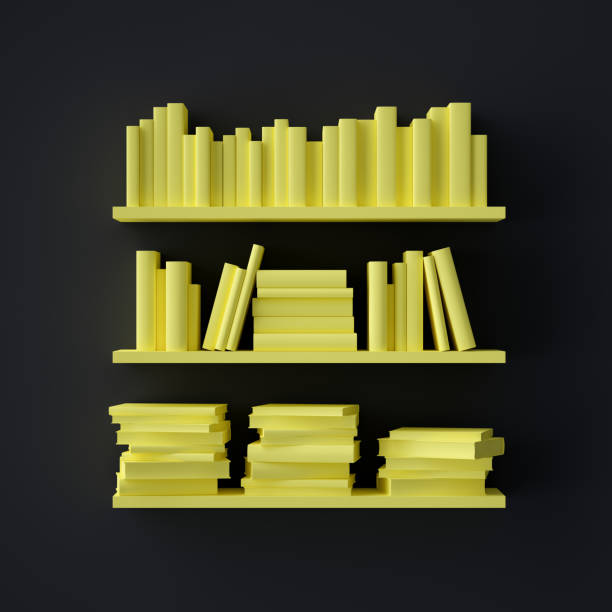 Abstract Bookshelf with books - foto stock