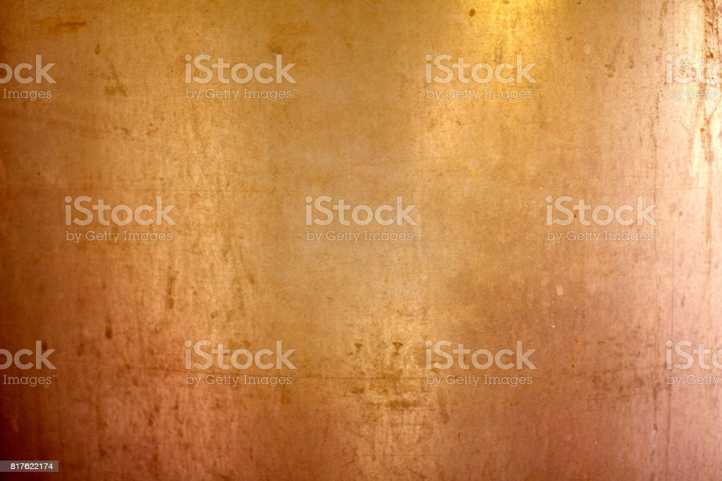 Abstract brass metal plate background stock photo