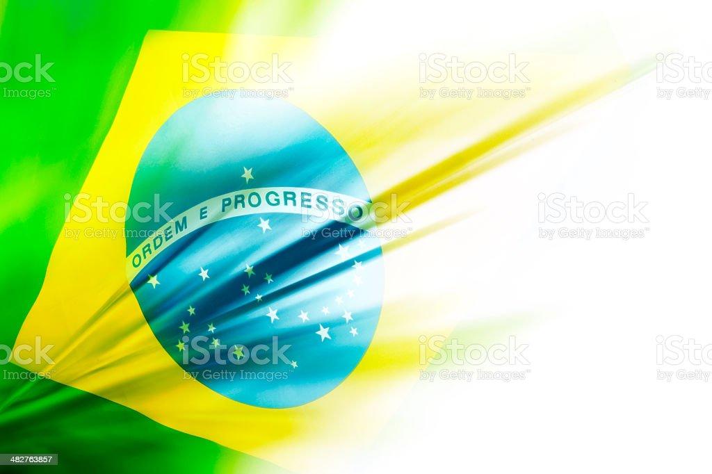 Abstract Brazilian Flag stock photo