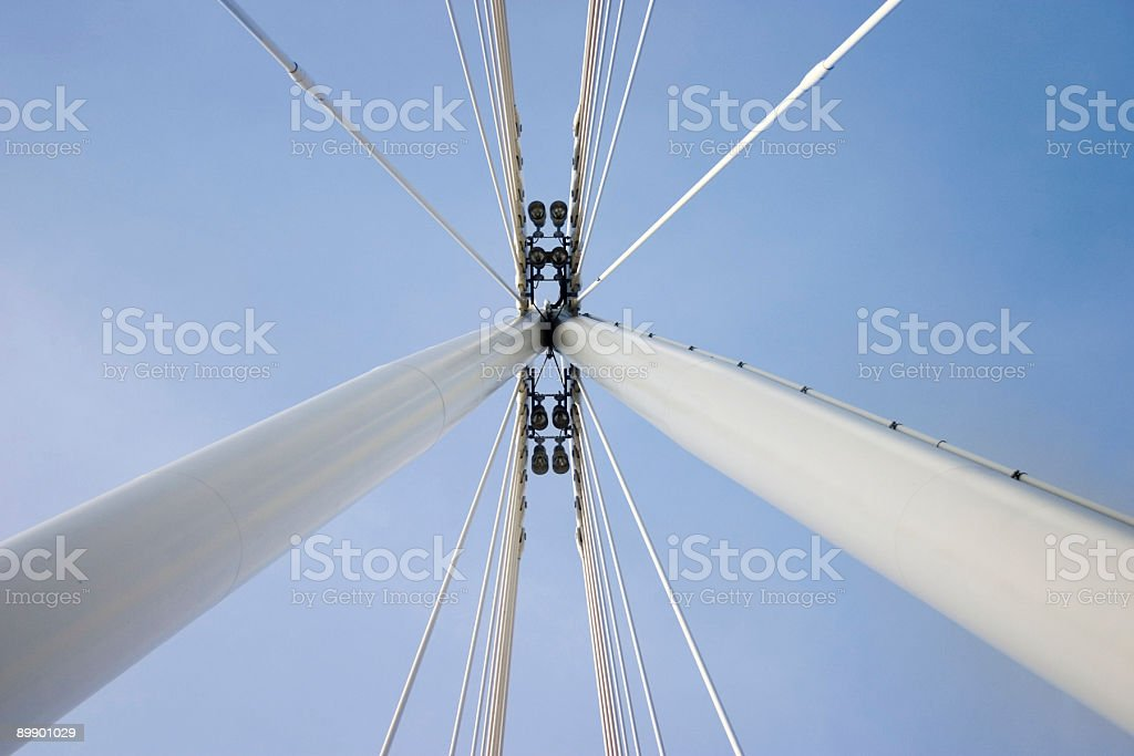 Abstract bridge structure royalty-free stock photo