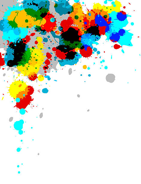 Abstract bright paint splash design