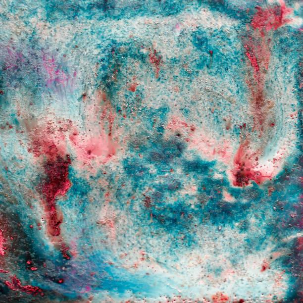 Abstrakte helle Textur mit Scheidungen von Farbe von gebleichten Korallen, rote Koralle und Farbe des Meeresschaums schafft Empfindungen des Eintauchens in den unwirklichen Alien-Ozean. Natürlicher Luxus. – Foto