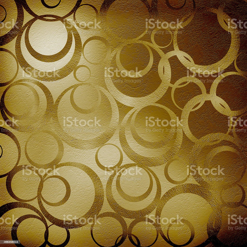 Abstract brown background with circles royalty-free stock photo