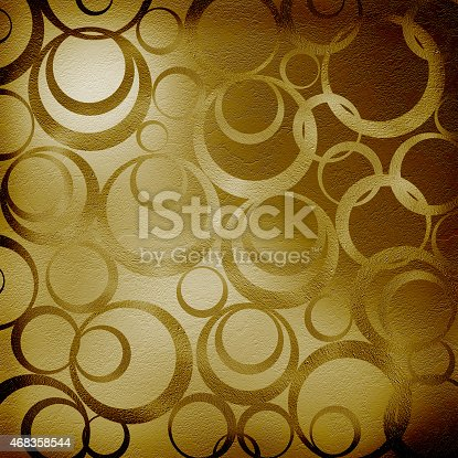 Abstract Brown Background With Circles Stock Photo & More Pictures of 2015