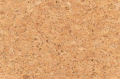 Abstract brown corkboard or cockboard texture background. Natural wood surface for material design element. Beige cork board wallpaper