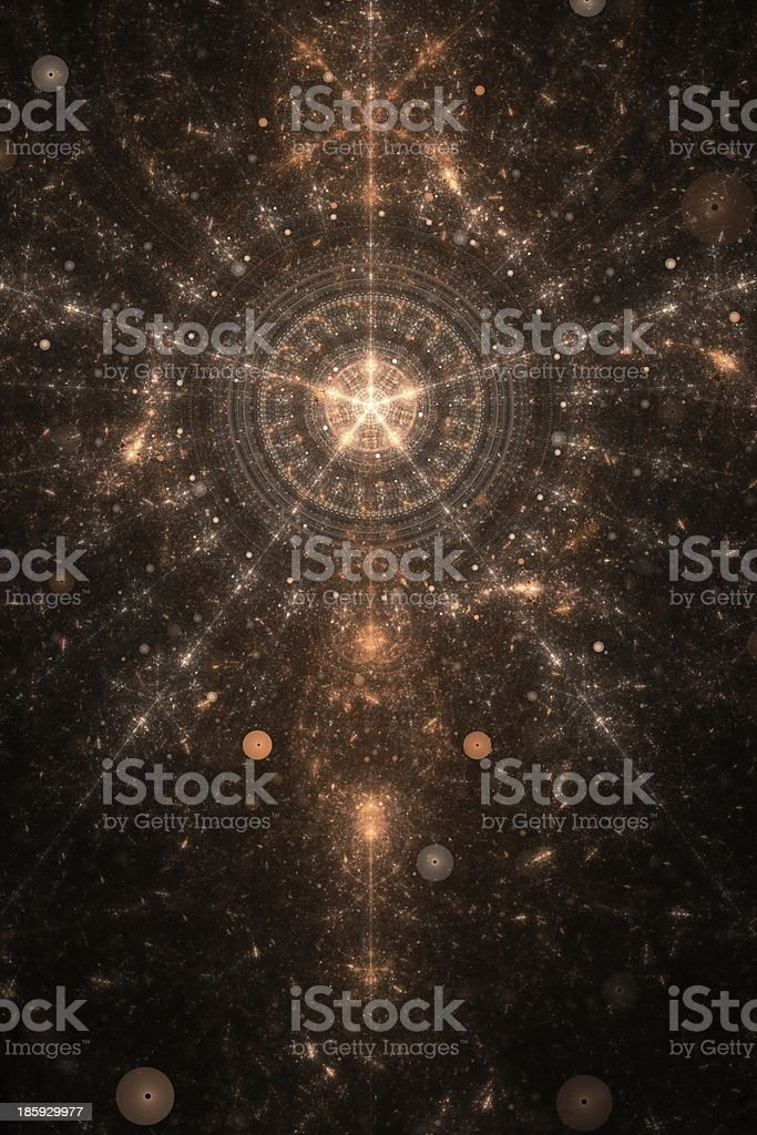 Abstract brown on black theme stock photo