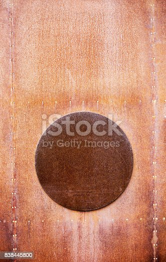 istock Abstract brown painted metal background in Valencia 838445800