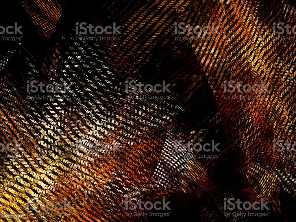 abstract brown retro textile pattern / texture stock photo