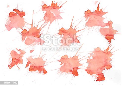 istock Abstract brush Colorful shape watercolor illustration painting background and texture backdrop. 1161947160