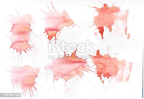 istock Abstract brush Colorful shape watercolor illustration painting background and texture backdrop. 1161947165