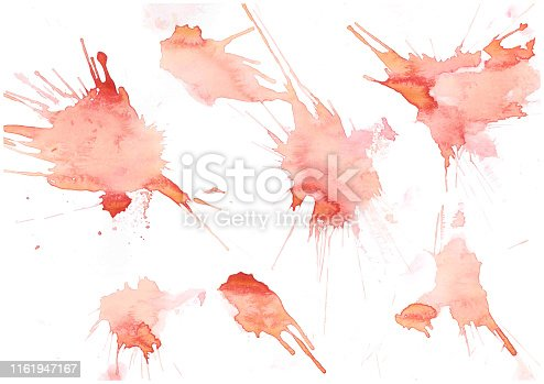 istock Abstract brush Colorful shape watercolor illustration painting background and texture backdrop. 1161947167